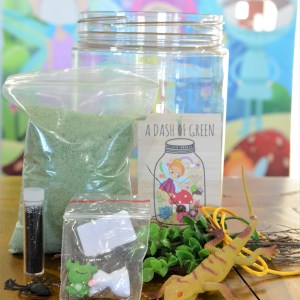 Enchanted Garden Jars, A Dash of Green, DIY packs, Kids activities, Kids craft
