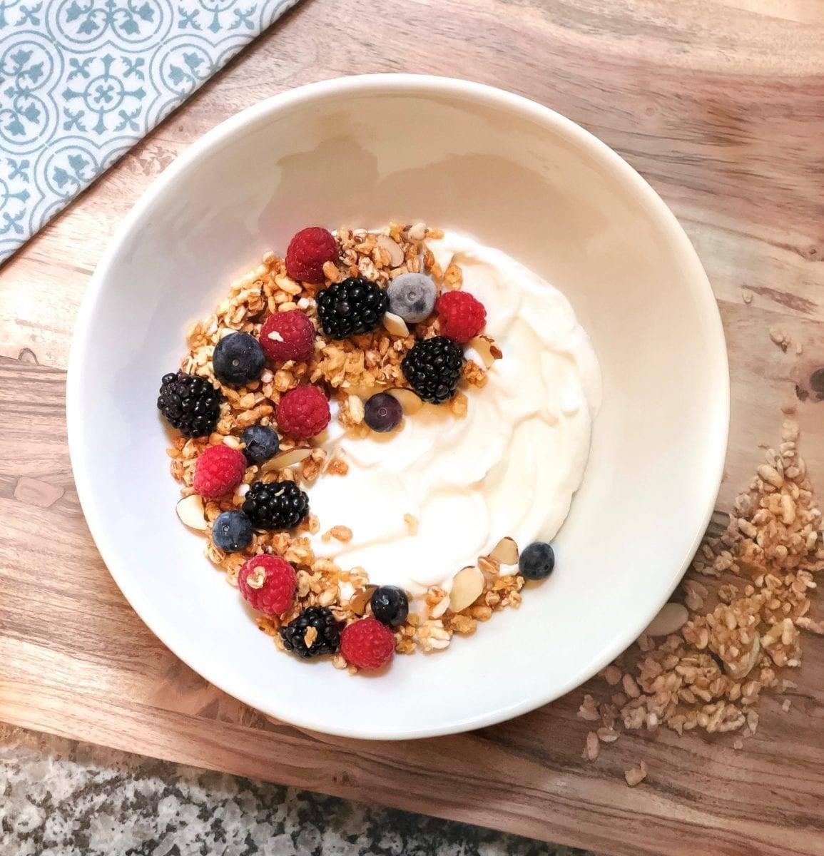 Berry Me: Granola Yogurt Bowl