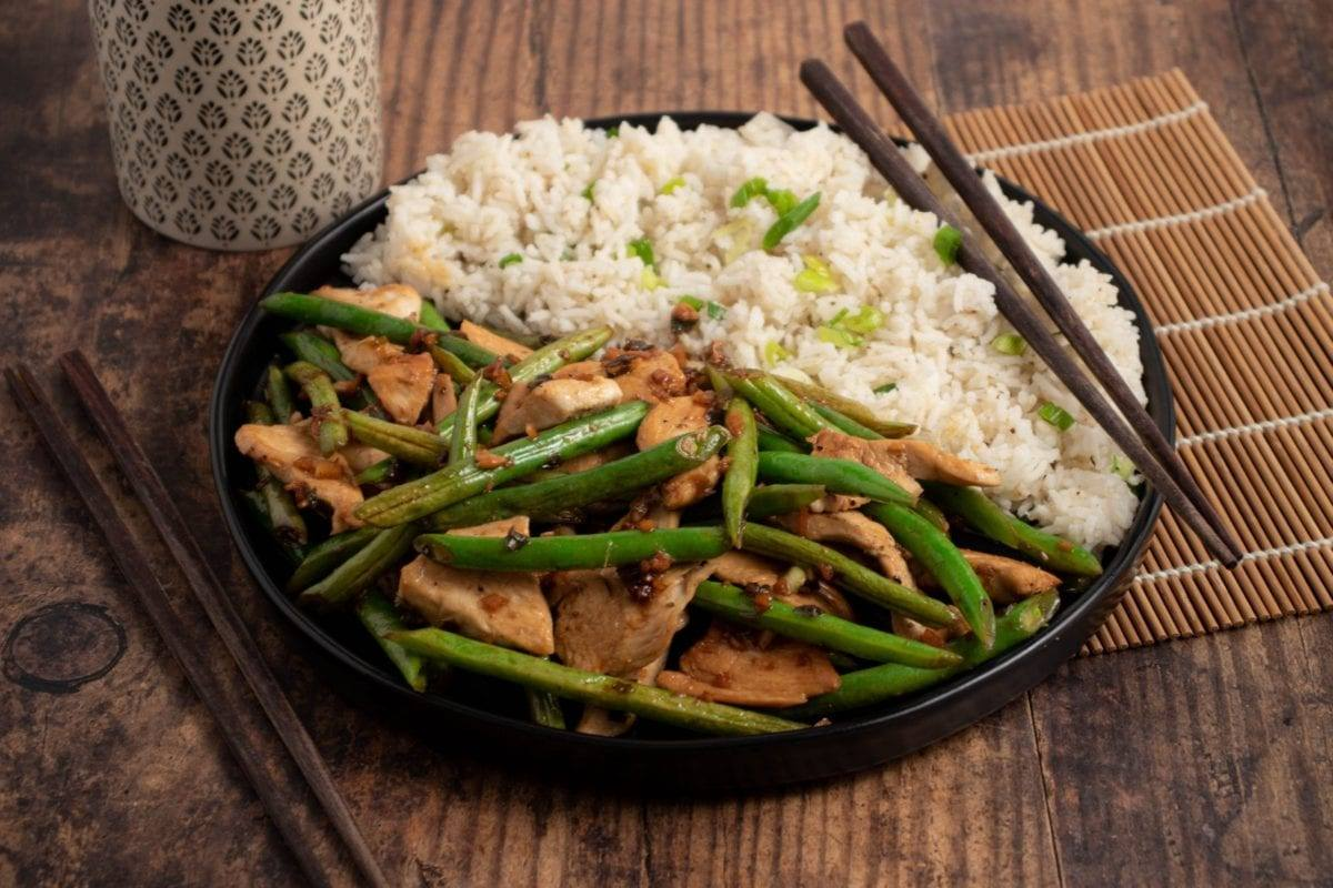 Ginger Beans and Chicken Stir Fry Meal Planning Meal Prep Counting Macros