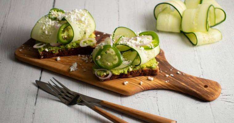 Cucumber Avocado Toast