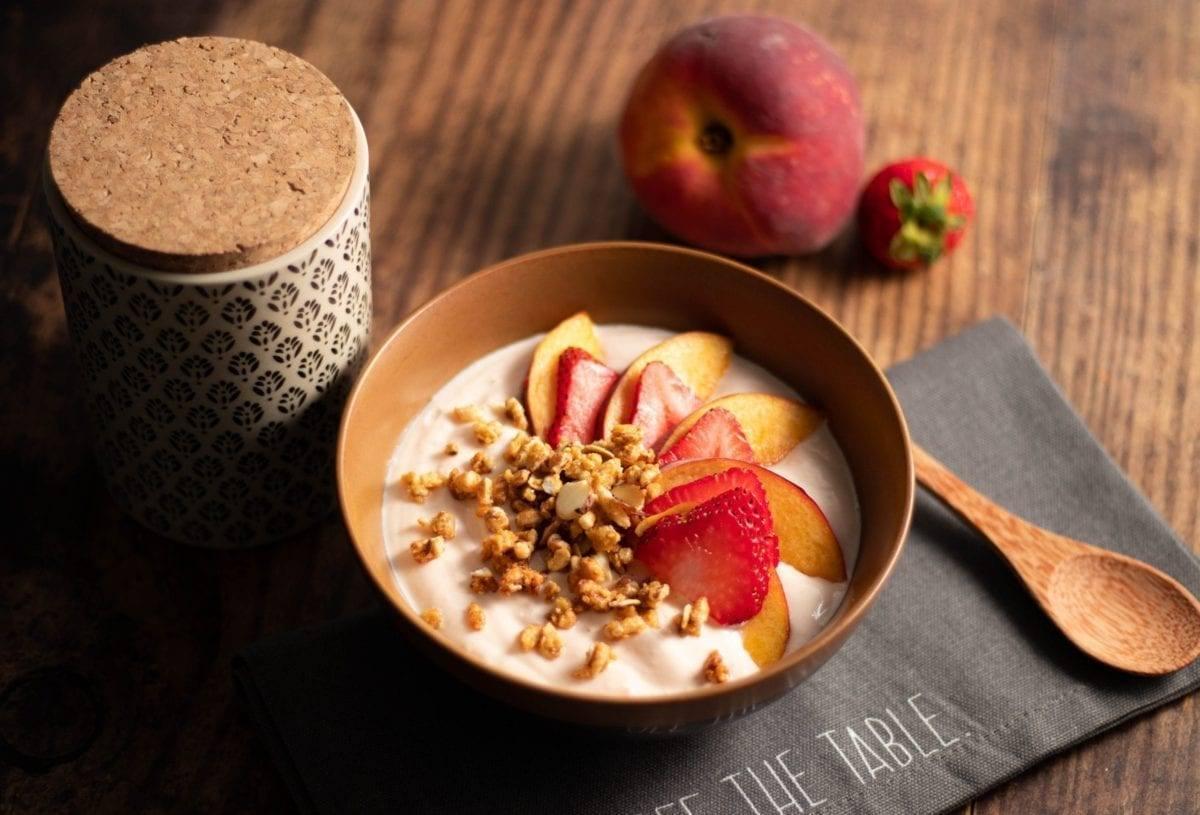 Peaches & Cream Yogurt Bowl