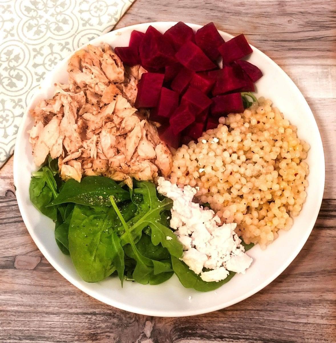 Beet & Salmon Protein Bowl