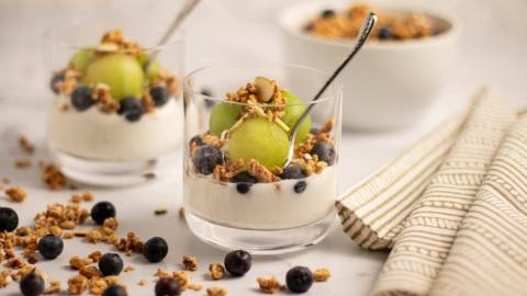 Honeydew Blueberry Yogurt Parfait Meal Prep Meal Planning Counting Macros