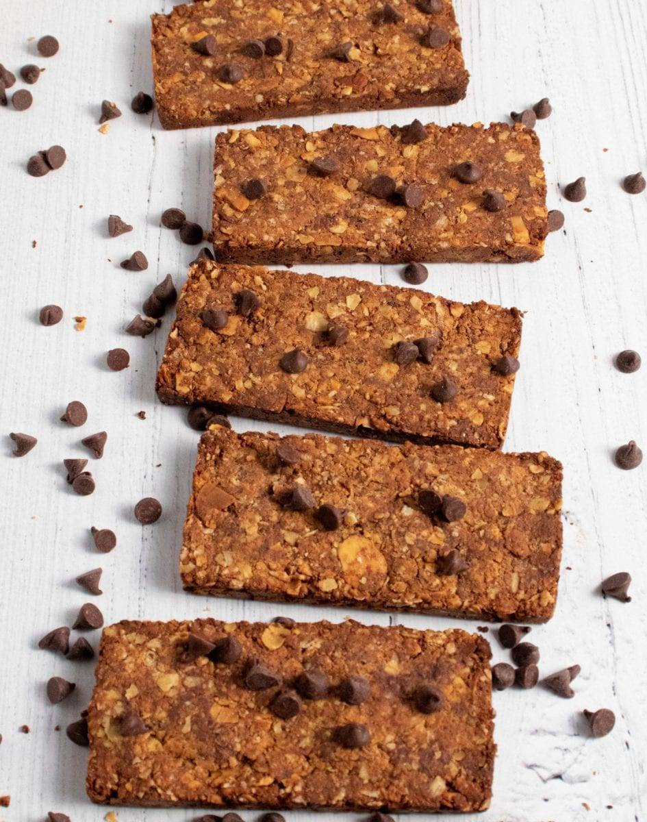 Chocolate Granola Almond Bars