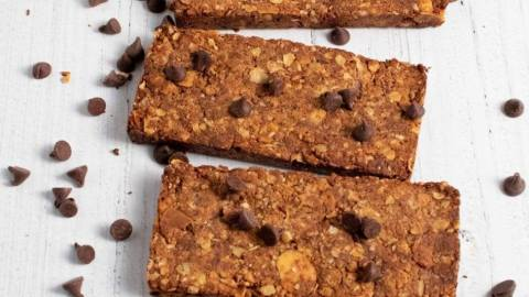 Chocolate Granola Almond Bars Meal Prep Meal Planning Counting Macros