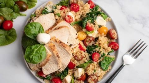 Chicken Caprese Quinoa Salad Meal Prep Counting Macros