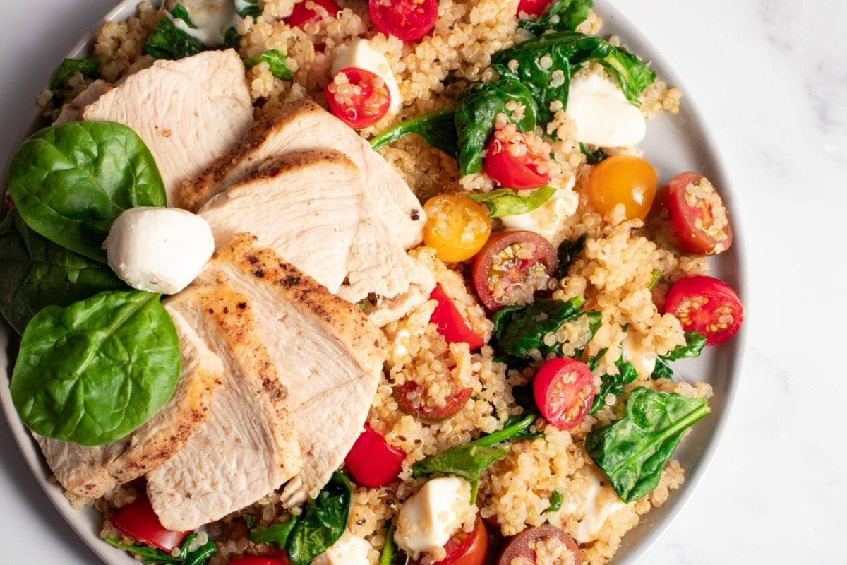 Chicken Caprese Quinoa Salad Meal Prep Counting Macros