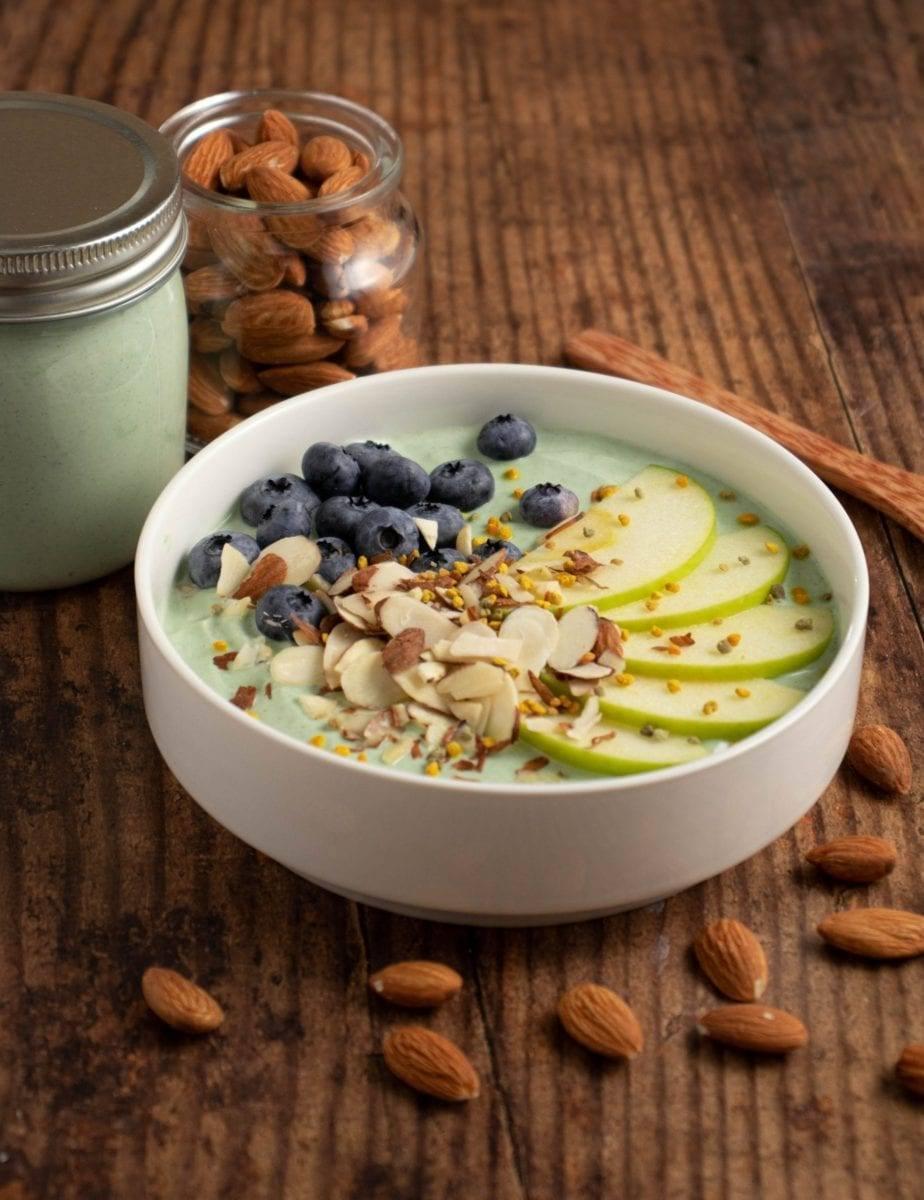 Green Almond Yogurt Bowl Meal Prep Counting Macros Meal Planning