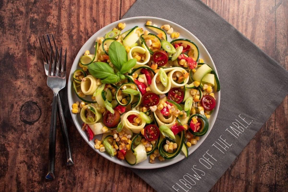 Zucchini Noodles with Corn Salsa