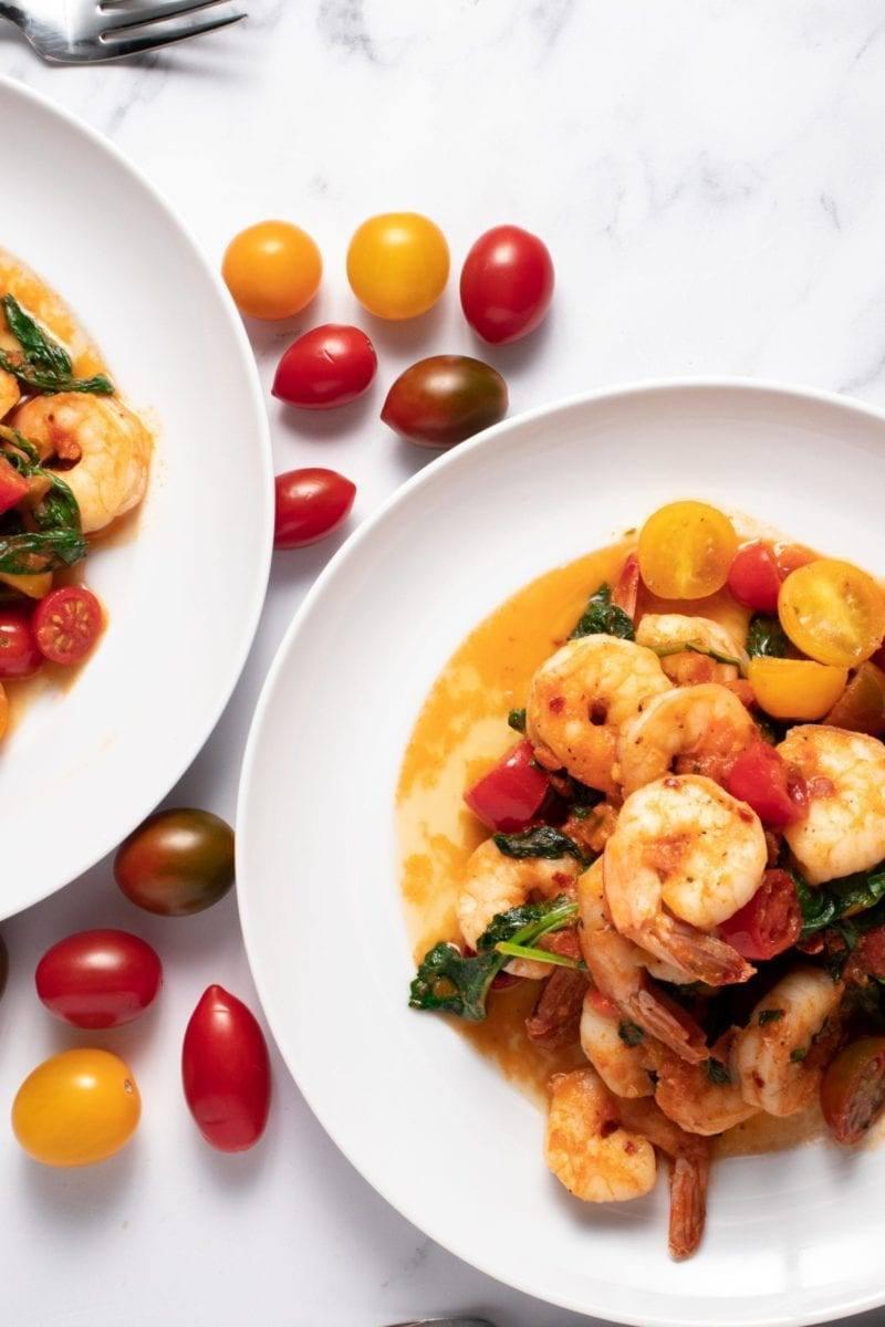 Shrimp and Vodka Tomatoes