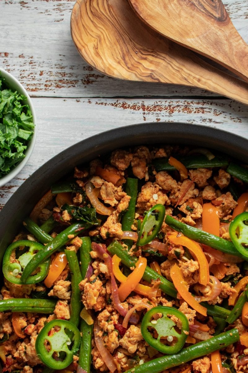 Turkey Kale & Green Bean One Skillet Meal
