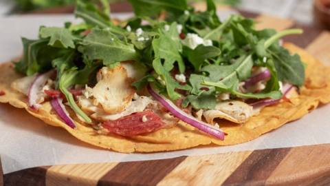 Chicken and Arugula Flat Bread