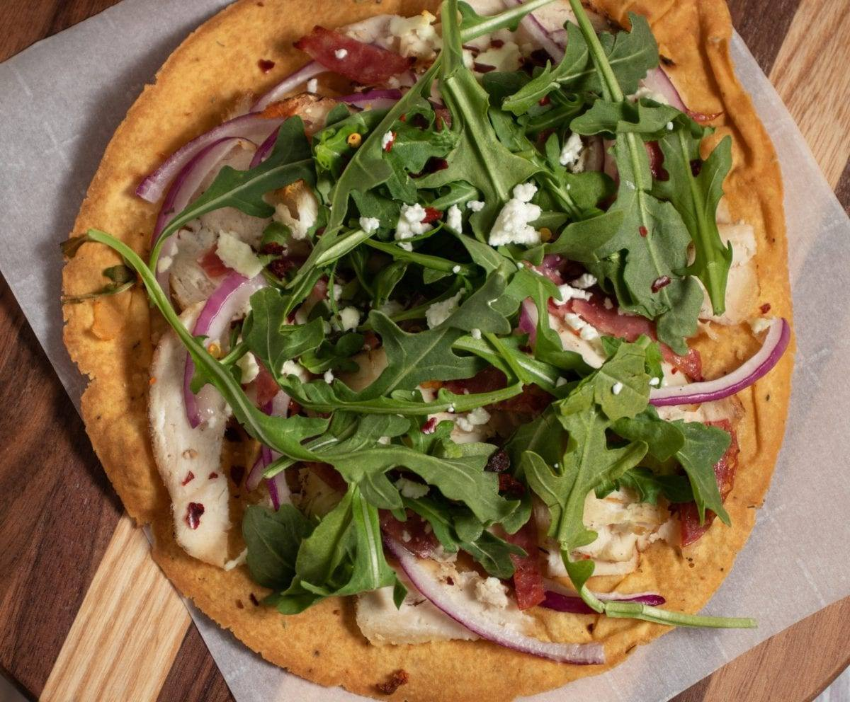 Chicken and Arugula Flatbread