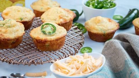 Cheesy Jalapeno Cornbread Muffins