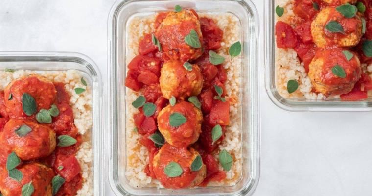 Chicken Meatballs with Riced Cauliflower