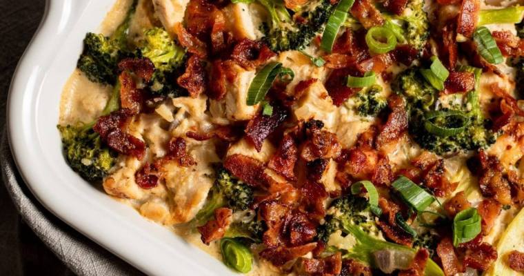 Chicken Bacon Broccoli Casserole