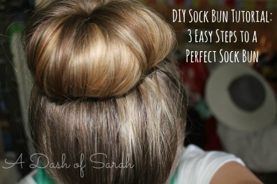 diy sock bun tutorial result