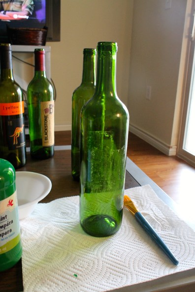 Wine Bottle Removed from Wine Label