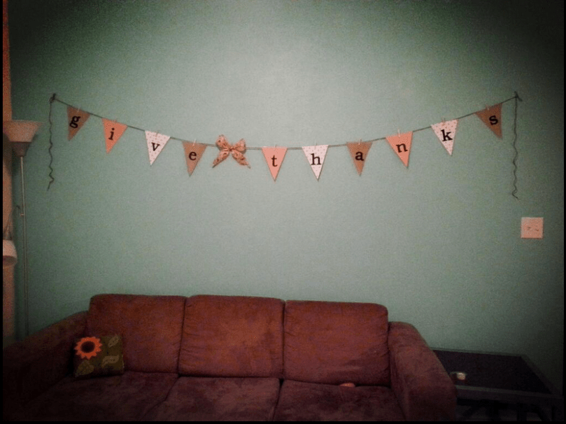 Easy DIY Thanksgiving Bunting Flag Banner