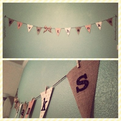 Easy DIY Thanksgiving Bunting Flag Banner Picture