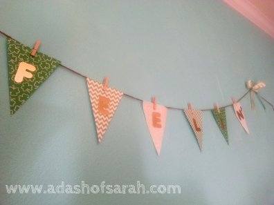 Feeling Lucky St Patricks Day Shabby Chic Bunting Banner DIY