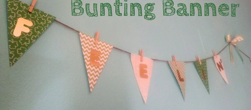 "Easy and Quick DIY St. Patrick's Day ""Feelin' Lucky"" Bunting Banner"