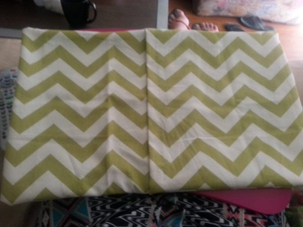 DIY pillow cover complete