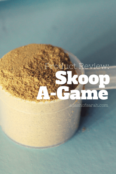 Skoop A-Game Powder Review on A Dash of Sarah