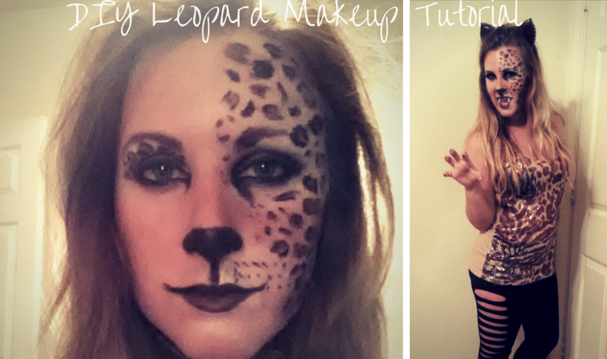 DIY Leopard Halloween Makeup Tutorial