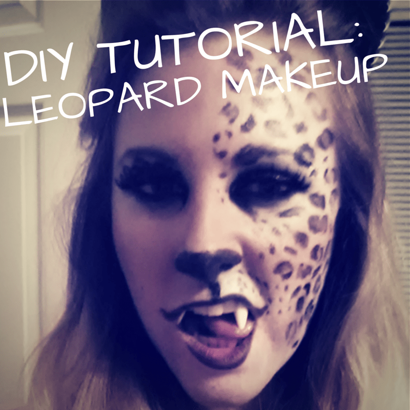 DIY tutorial to make leopard spots for last minute Halloween costume