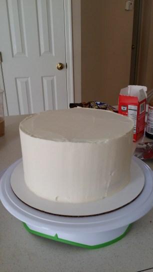 final layer of buttercream