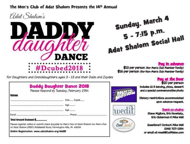adat shalom daddy daughter dance