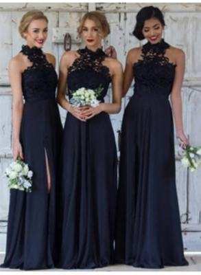 Cheap Dark Navy A-Line Bridesmaid Dresses