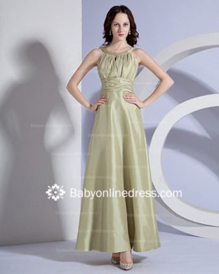 Gorgeous Pleats A-Line Floor-length V-Back Bridesmaid Dresses