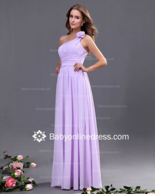 Satin Full-Length Formal Bridesmaid Dress