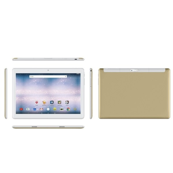 10.1 Inch 2.5D Curved Screen Android 8.0 Arge 2560 * 1600 IPS Screen Tablet PC gold AU plug 2