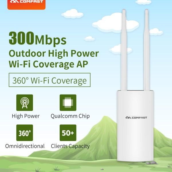 COMFAST Weatherproof  Wireless Wifi Router External Antenna Wifi Base Station US plug 2