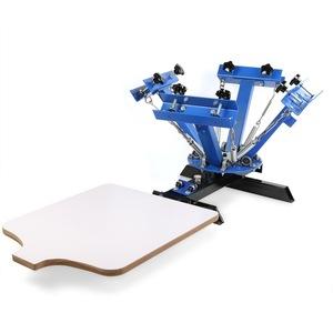 EU Free Shipping 4 Color 1 Station Silk Screen Printing Machine Manual Screen Printer 1
