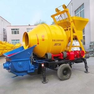 JBT30 affordable 30m3/h electrical power mini concrete mixer pump with electric engine 2