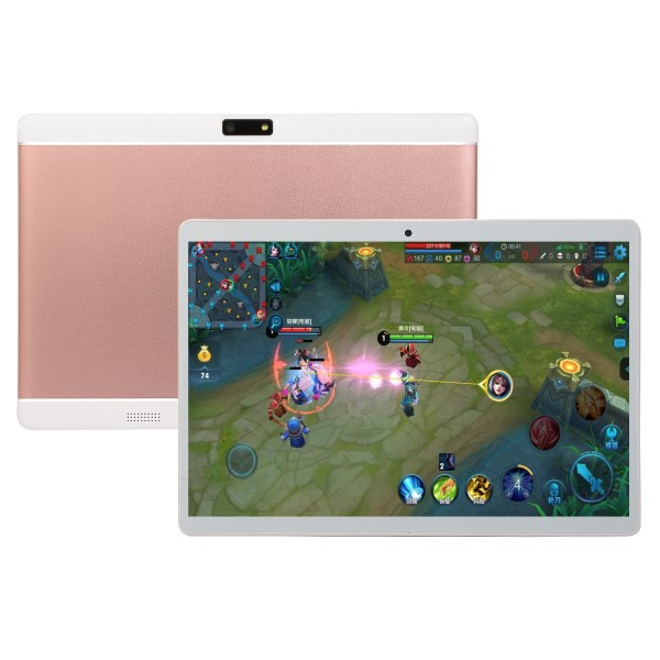 10.1 Inch HD Game Tablet Computer PC Android 8.0 6+64GB Dual Camera Tablet Pink EU plug 2