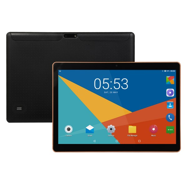 10.1 inch 4G-LTE Tablet Android 8.0 Bluetooth PC 6+64G 2 SIM with GPS Tablet  Black US plug 2