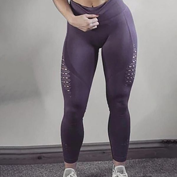High Waist Solid Seamless Workout Gym Yoga Legging 2