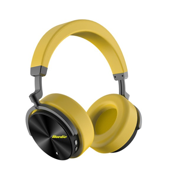 Bluedio T5 HiFi Active Noise Cancelling Headphones Wireless Bluetooth Over Ear Headset with Microphone - Yellow 2