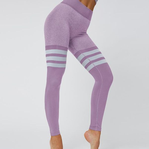 High Waisted Knitted Circle Seamless Legging 2