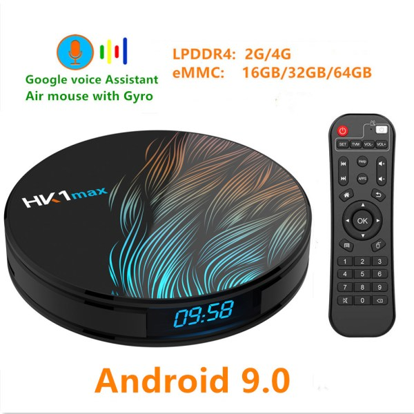 HK1 Max Android 9.0 4K Wifi Smart TV Box - 4GB RAM, 64GB ROM, US Plug 2