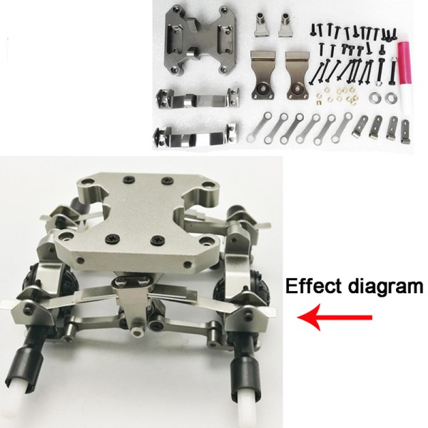 1:16 Metal Chassis Accessories DIY Upgrade Modified Metal Parts 2