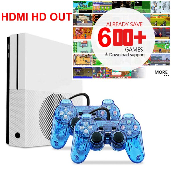 HD TV Game Consoles Built-in 600 Retro Classic Games with 2 USB Joystick 2