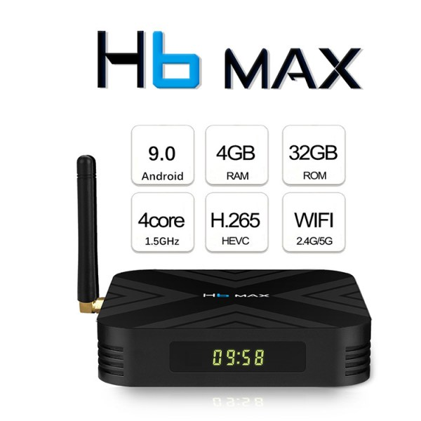 H6 MAX TV BOX - European regulations 4G+32GB Black 2