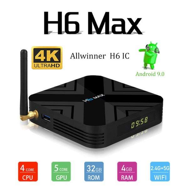 H6 MAX TV BOX - Australian Standard 4G+32GB Black 2