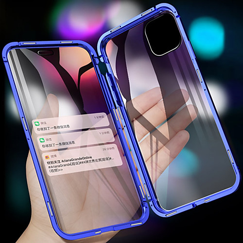 Magnetic Metal Double Side Tempered Glass Phone Case for iPhone 11 11 Pro 11 Pro Max XS Max XR XS X 8 8 Plus 7 7 Plus 2